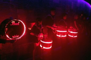 Drumline at night